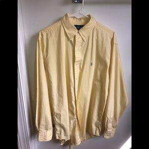 Men's Medium yellow polo button down dress shirt.
